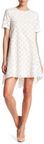 Donna Morgan Polka Dot Jacquard Trapeze Dress