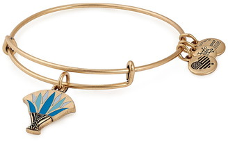 Alex and Ani Blue Lotus Charm Wire Adjustable Bracelet