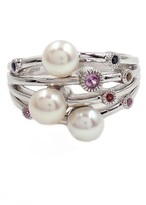 Savvy Cie 5.5mm Cultured Pearl & Gemstone Ring