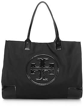 Tory Burch Women's Ella Patent Leather-Trimmed Tote