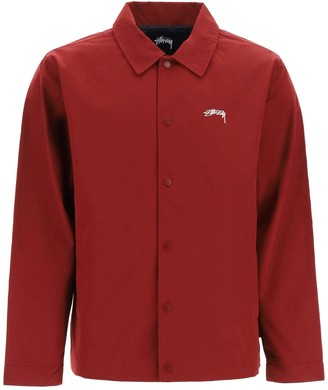 Stussy CLASSIC COACH JACKET L Red Cotton, Technical