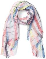 Gap Spacedye Stripe Fringe Scarf