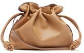 Loewe Flamenco Leather Clutch - Womens - Camel