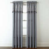 Royal Velvet Encore Leaf Embroidery Rod-Pocket Curtain Panel