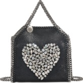 Stella McCartney Tiny Bella Heart Crystals bag