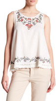 Max Studio Embroidered Tank