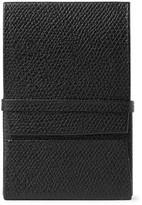 Valextra Pebble-Grain Leather Business Cardholder