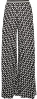 Missoni Crochet-knit Wide-leg Pants - Black