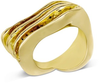 Orman Wave Break Small Ring Gold