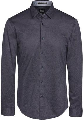 HUGO BOSS Jersey Slim Fit Button Down Shirt