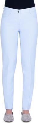 Akris Magda Cotton-Silk Straight-Leg Jeans