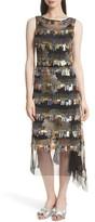 Tracy Reese Women's Flange Beaded Fringe Midi Dress