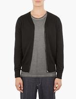 Comme Des Garcons Shirt Black Zip-up Cardigan