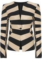 Gareth Pugh Striped Hopsack Jacket