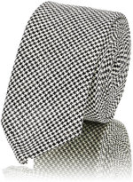 Thom Browne Men's Micro-Houndstooth Necktie-BLACK