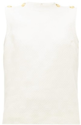 Gucci GG-jacquard Wool-blend Top - Ivory