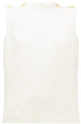 Gucci Gg-jacquard Wool-blend Top - Womens - Ivory