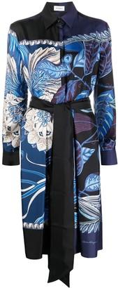 Salvatore Ferragamo Abstract-Print Silk Shirt Dress