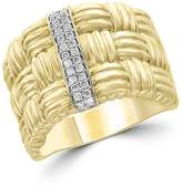 Bloomingdale's Diamond Wide Band Ring in 14K Yellow Gold, .15 ct. t.w. - 100% Exclusive