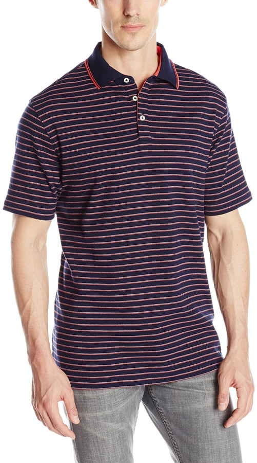 IZOD Mens Winward Short Sleeve Solid Interlock Polo