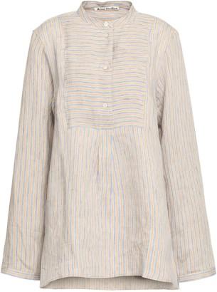 Acne Studios Striped Linen-blend Tunic