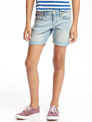 Old Navy Light-Wash Midi Jean Shorts for Girls