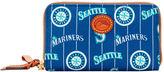 Dooney & Bourke MLB Mariners Zip Around Phone Wristlet