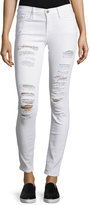 Frame Le Color Rip Skinny Distressed Jeans, Winter White