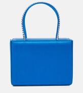 Thumbnail for your product : Amina Muaddi Gilda Super Mini embellished satin tote