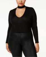 Soprano Plus Size Illusion Choker Bodysuit