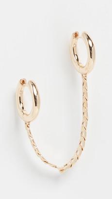 BaubleBar 2 Hoop Chain Earring