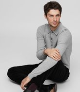 Reiss Cheviot - Wool And Cashmere Polo Shirt in Grey, Mens
