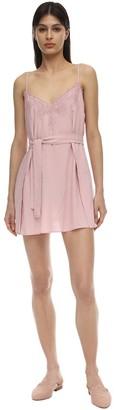 La Perla Bella Lace & Viscose Slip Dress