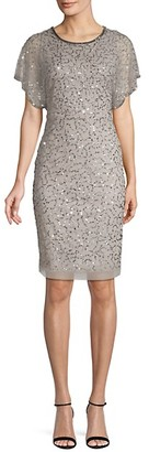 Adrianna Papell Sequined Sheath Dress