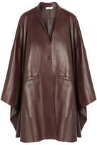 Givenchy Bordeaux Leather Cape - Burgundy