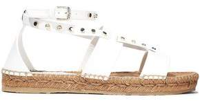 Jimmy Choo Denise Studded Leather Espadrille Sandals