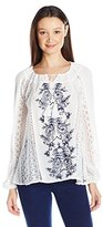 O'Neill Juniors Holland Woven Embroidered Blouse
