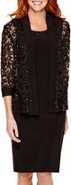 R & M Richards R&M Richards 3/4-Sleeve Lace Jacket Dress - Petite