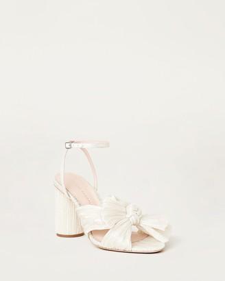 Loeffler Randall Camellia Bow Heel Shimmer