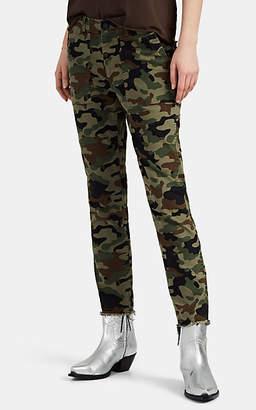 Nili Lotan Women's Jenna Camouflage Cotton Slim Pants - Green