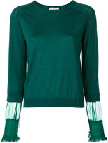 No.21 tulle insert jumper - women - Silk/Virgin Wool - 42