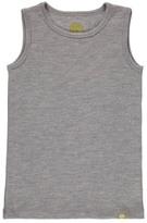Nui Ribbed Organic Merino Wool Vest Grey