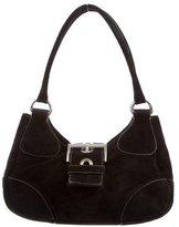 Prada Scamosciato Suede Buckle Shoulder Bag