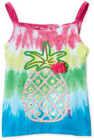 Flapdoodles Girls 4-6x) Tie-Dye Pineapple Tank