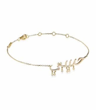 Djula Yellow Gold and Diamond Arabic Habebti Bracelet