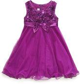 Bonnie Jean Girls Dress, Little Girls Sequin Mesh Dress