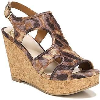 Fergalicious By Fergie by Fergie Women's Sandals TAN - Tan Leopard Kenzie Cork Wedge Sandal - Women