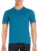 Perry Ellis Solid V-Neck T-Shirt