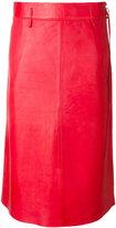 Humanoid straight midi skirt