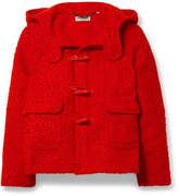 Opening Ceremony Hooded Shearling Jacket - Red
